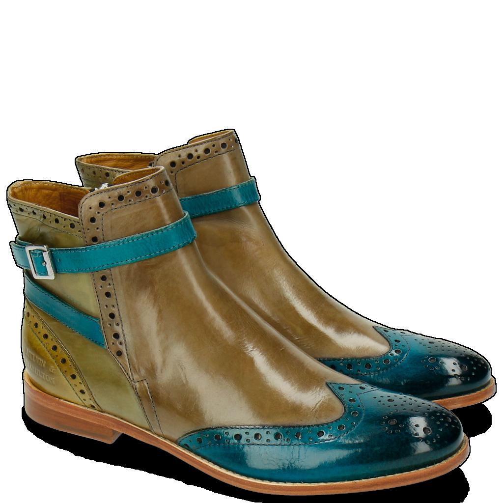 Chaussures en cuir - Collection femme - Beige   Melvin   Hamilton 08f011f0a3d9