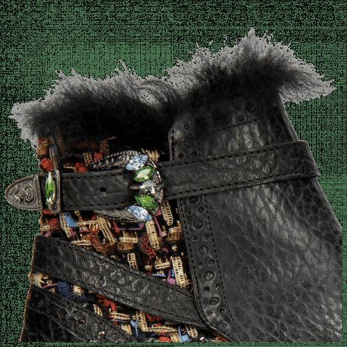 Stiefeletten Amelie 67 Brazil Textile Blush Black