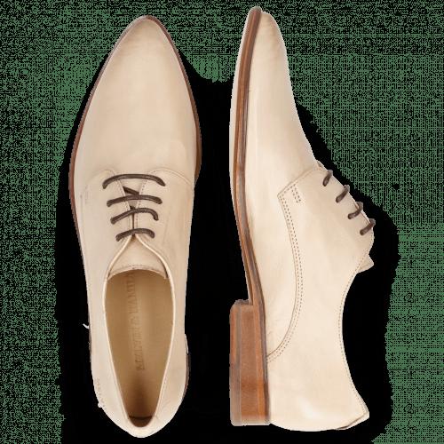 Derby Schuhe Jessy 5 Pavia Beige Lining Collar