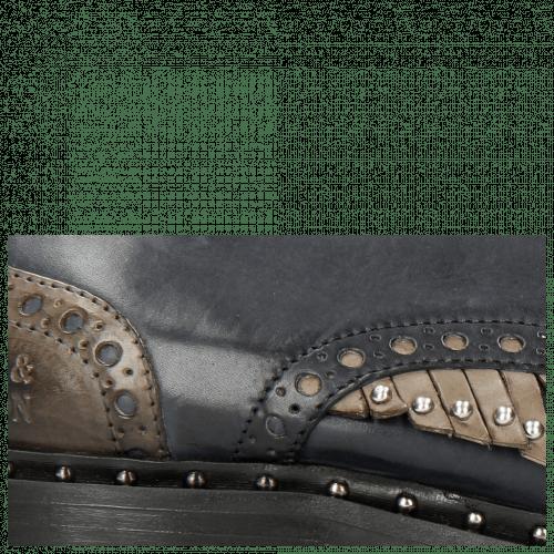 Oxford Schuhe Sally 75 Rio Navy Stone