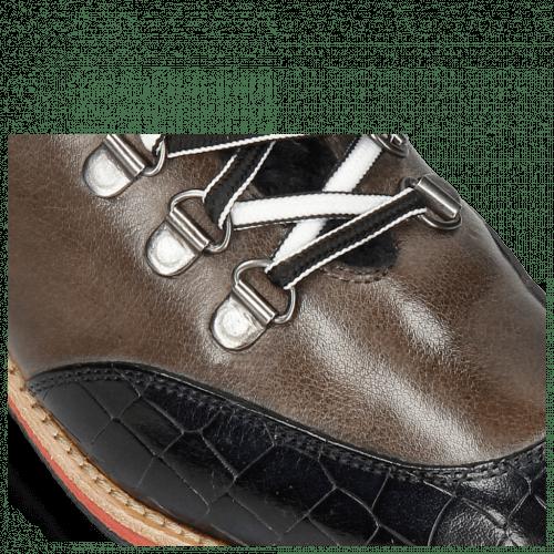 Stiefeletten Amelie 71 Crock Navy Classic Grigio Tongue Nappa Fur