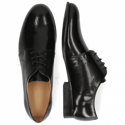 Derby Schuhe Sally 1  Black Lining Rich Tan