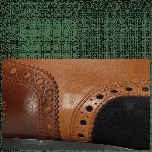 Derby Schuhe Rico 16 Rio Wood Suede Pattini Navy