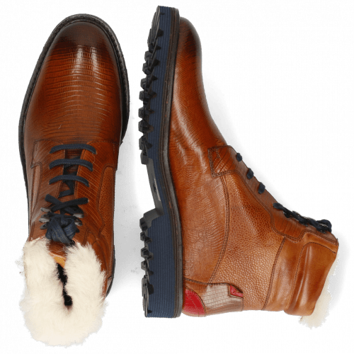Stiefeletten Trevor 25 Guana Cognac Scotch Grain Tan Ruby Fur