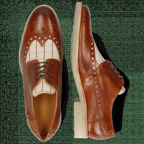 Derby Schuhe Clint 34 Guanna Tan Line Jute Mesh