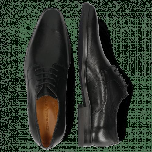 Derby Schuhe Alex 1 Remo Black Lining Rich Tan