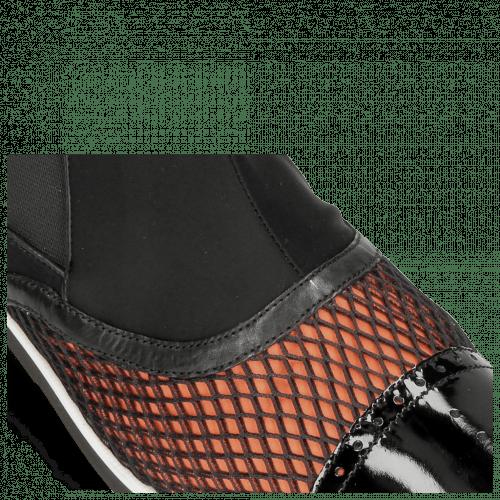 Stiefeletten Lance 22 Patent Net Black Lycra Orange