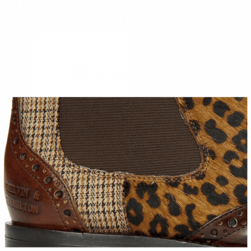Stiefeletten Selina 29 Mid Brown Hairon Leo Cappu Textile