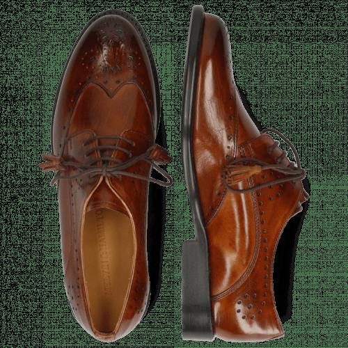 Derby Schuhe Selina 41 Wood Lining Rich Tan