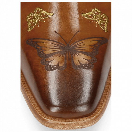 Stiefeletten Clark 22 Tan Embroidery Small Butterfly Gold
