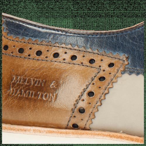 Derby Schuhe Johnny 1 Tex Funky Visone 60 Moroccan Blue