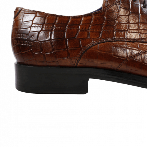 Derby Schuhe Lewis 9 Crock Wood LS Brown