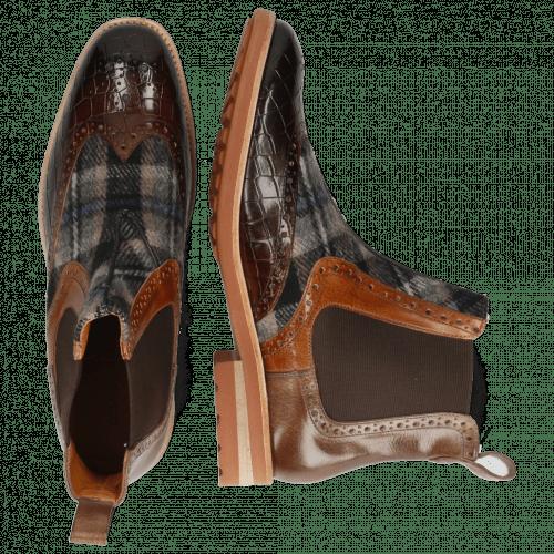 Stiefeletten Eddy 28 Crock Mid Brown Wood Textile Crayon Chestnut