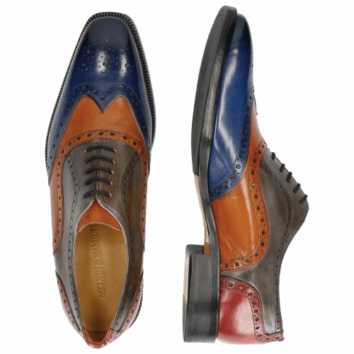 Oxford Schuhe Jeff 24 Classic Electric Blue Electric Orange Sky Red