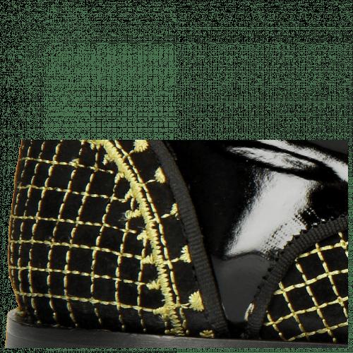 Stiefeletten Giulia 3 Patent Black Suede Chilena Embroidery
