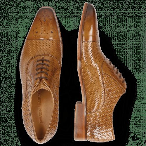 Oxford Schuhe Lance 55 Sand Perfo Guana Woven