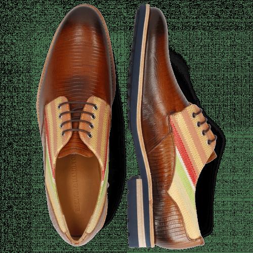 Derby Schuhe Henry 34 Guana Tan Shade Dark Brown
