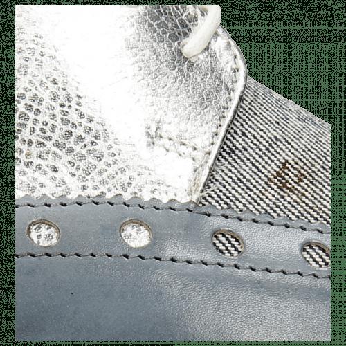 Derby Schuhe Jessy 38 Moroccan Blue Denim Metal Silver