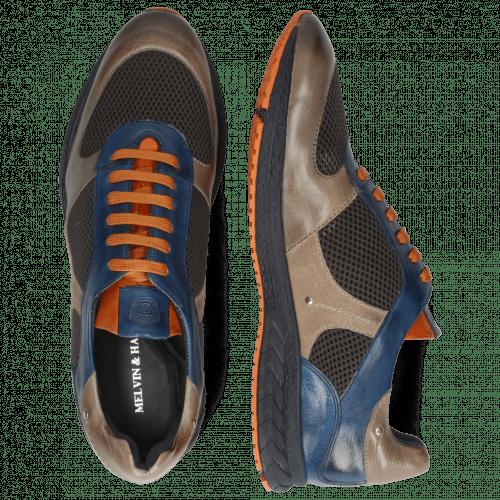 Sneakers Blair 12 Pisa Grigio Navy Stretch Net Dark Grey