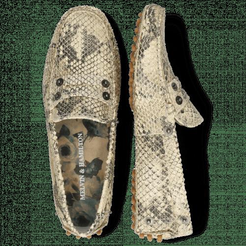 Loafers Caroline 1 Snake Print Platin Natural Thread