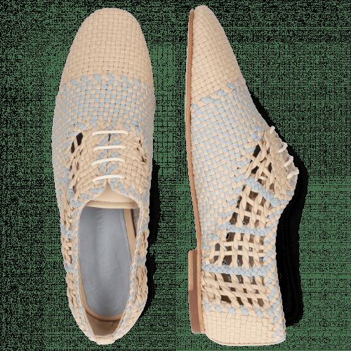 Oxford Schuhe Aviana 3 Woven Off White Wind
