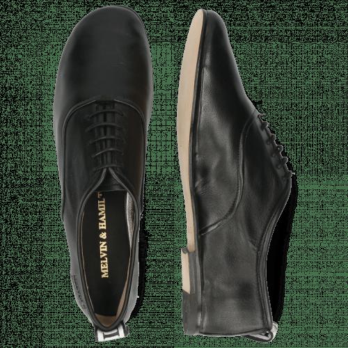 Oxford Schuhe Iris 13 Nappa Black Strap M&H Flex