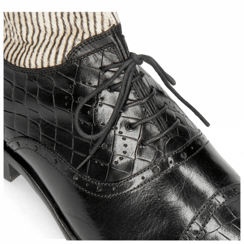 Stiefeletten Patrick 4 Crock Black Hairon Stripes