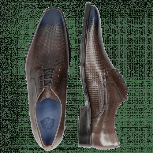 Derby Schuhe Martin 1 Venice Dice Stone Toe Electric Blue