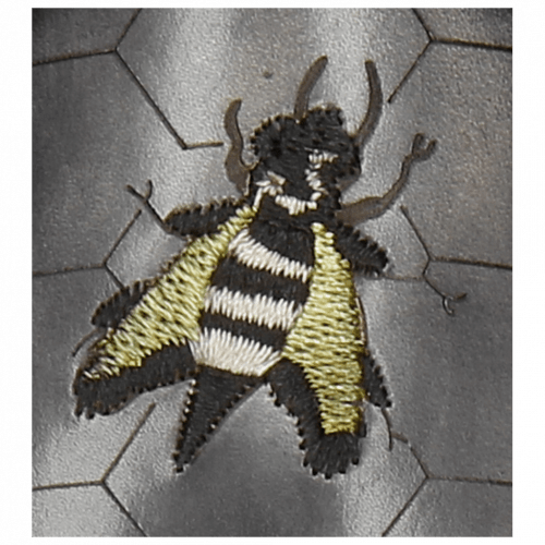 Derby Schuhe Elvis 42 Black Embroidery Bee