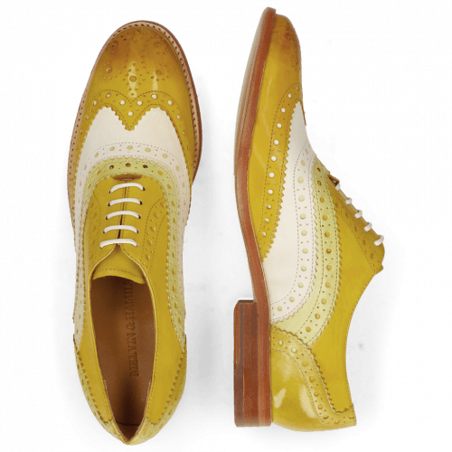 Oxford Schuhe Amelie 10 Vegas Yellow White Cedro Sun
