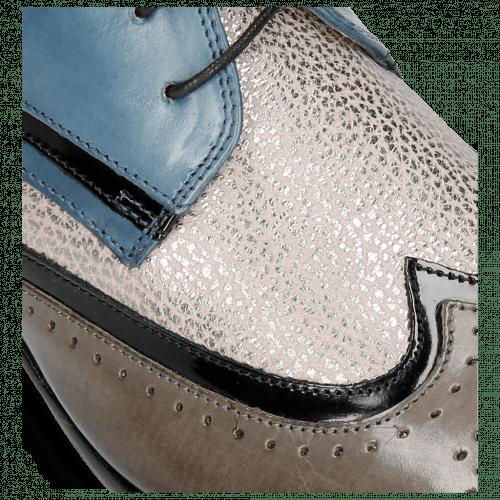 Stiefeletten Sally 30 Grigio Patent Black Grafi Gunmetal