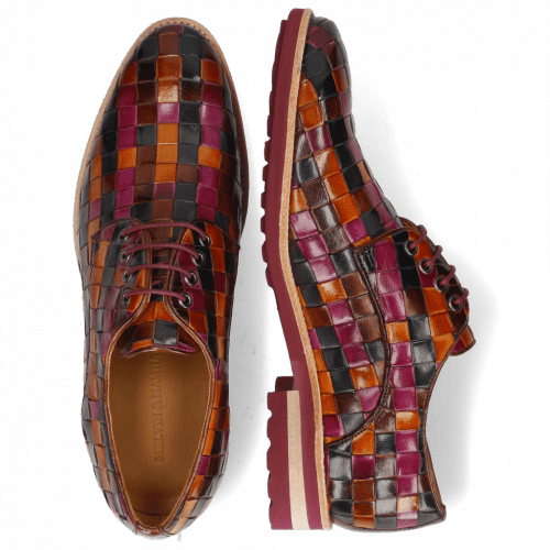 Derby Schuhe Brad 7  Woven Multi 7 Lining Rich