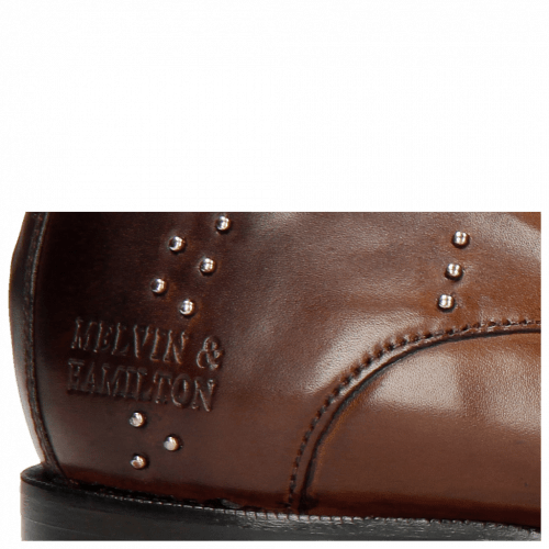 Derby Schuhe Albert 1 Sabbia Rivets