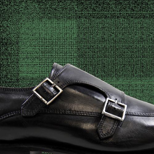 Monk Schuhe Stanley 4 Crust Black LS