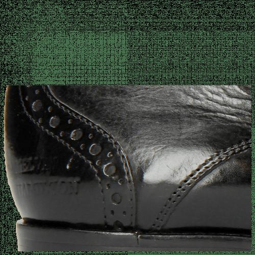 Derby Schuhe Amelie 3 Black Lining Rich Tan