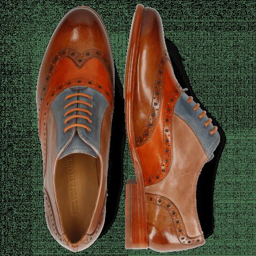 Oxford Schuhe Selina 24 Tan Arancio Satellite Make Up
