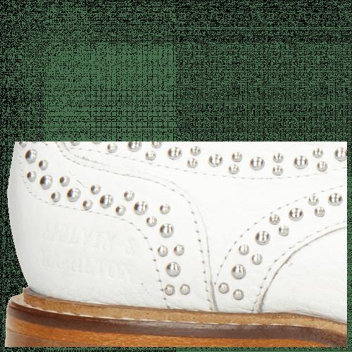 Derby Schuhe Sandy 1 Milled White Rivets