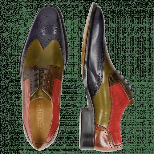 Derby Schuhe Jeff 14  Classic Cobalt Mint Green Grey Rosso Tan LS