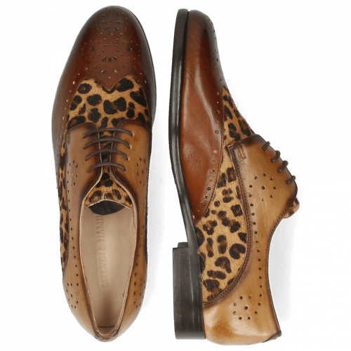 Derby Schuhe Selina 41 Imola Wood Hairon Leo