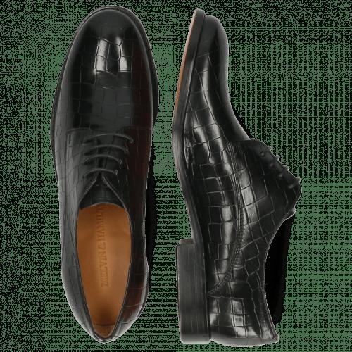Derby Schuhe Amelie 14 Crock Black Lining Rich Tan