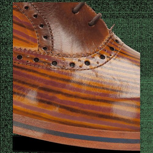 Oxford Schuhe Lewis 36 Tan Sand Lines Dark Brown