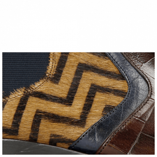 Stiefeletten Lewis 26 Turtle Mid Brown Navy Hairon