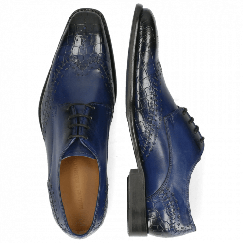 Derby Schuhe Clark 1 Crock Electric Blue Lining