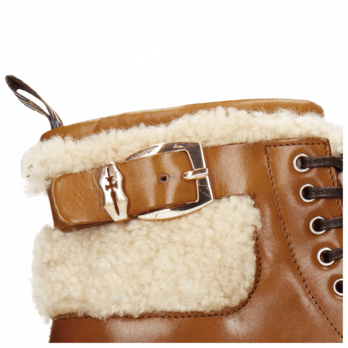 Stiefeletten Susan 66 Wood Sherling Beige Sword Buckle