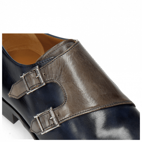 Monk Schuhe Lance 48 Navy Grigio