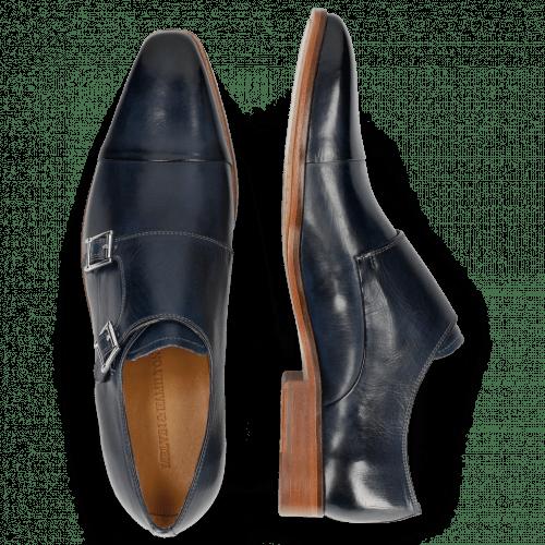 Monk Schuhe Lance 1 Navy