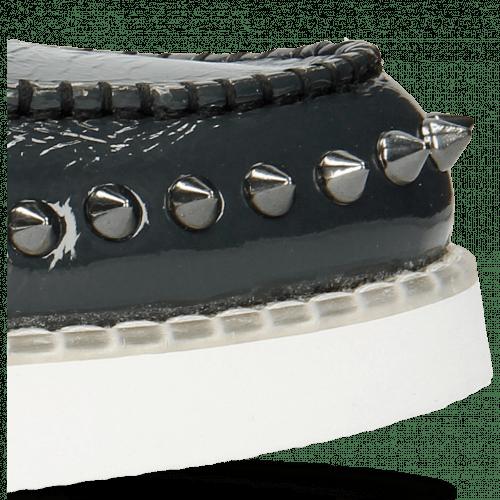 Loafers Jim 1 Soft Patent Navy Rivets