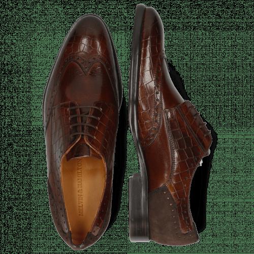 Derby Schuhe Bobby 1 Crock Mid Brown Lima Espresso