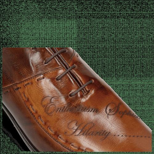 Oxford Schuhe Toni 15 Mid Brown Wood Lasercut LS Red