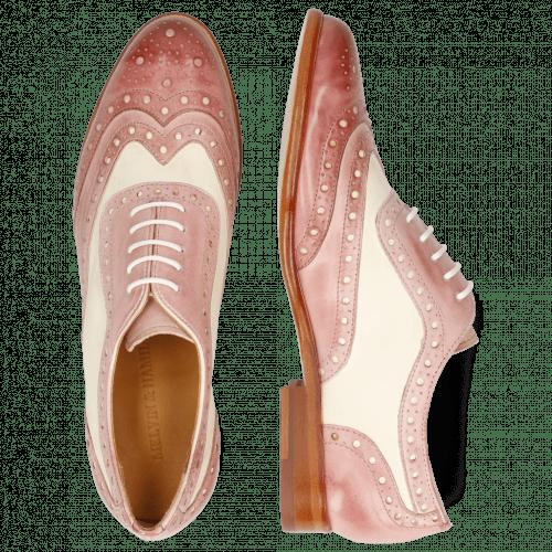 Oxford Schuhe Selina 56 Vegas Rose Pale Rose White